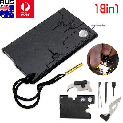 18 in 1 Multi-purpose Pocket Credit Cards Survival Knife Outdoor Hunting Camping
