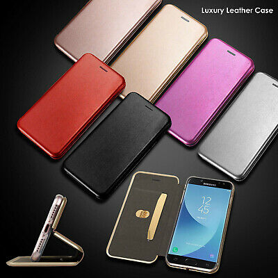Ultra Slim 3D Hard Wallet Leather Flip Case Cover For Samsung Galaxy S8 S9 Plus