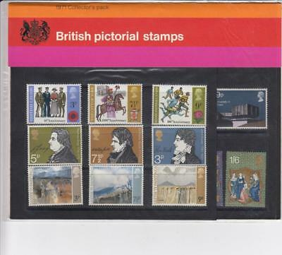GB 1971 COLLECTORS YEAR PACK OF COMMEMORATIVE MINT STAMPS SG CP893a  SEE SCAN