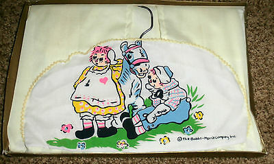 Vintage Raggedy Ann  & Andy Diaper Stacker~The Bobbs Merrill Company, Inc.