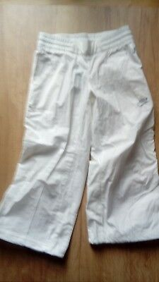 Girls Nike 3/4 Length White Trousers Size M 10/12Yrs Bnwt