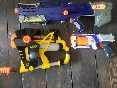 Image is loading Lot-of-13-Nerf-Guns-Used-for-Parts-