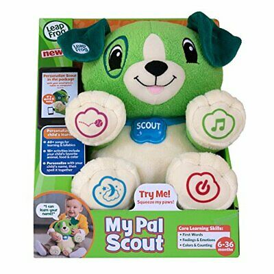 LeapFrog My Pal Scout Puppy 5 Pre Loaded Songs Green 6+ Months - Argos eBay