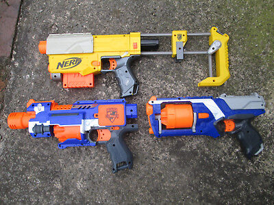 Nerf bundle. N-Strike Recon CS-6 + Motorized Elite Stockade and Elite Strongarm
