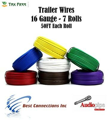 TRAILER LIGHT CABLE Wiring Harness 16-4 16 Gauge 4 Wire Bonded ...