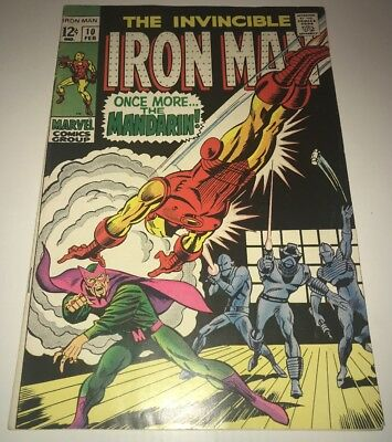 Iron Man #10 SILVER AGE KEY! CLASSIC MANDARIN COVER! AFFORDABLE MID-GRADE! 🔥🔑