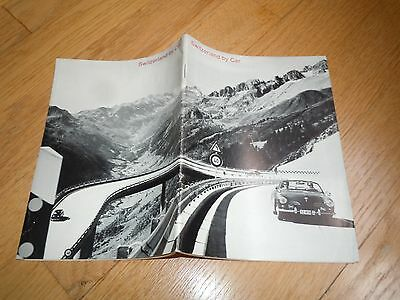 1968 SWITZERLAND BY CAR Booklet 30 Tours -SWISS NATIONAL TOURIST OFFICE