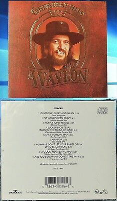 Waylon Jennings - Greatest Hits (CD, 1988, RCA Records, USA)