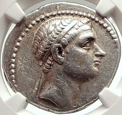 ANTIOCHOS III Megas Ancient Seleukid Silver Tetradrachm Greek Coin NGC i69572