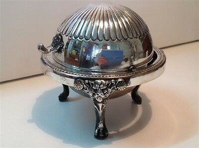 Antique Caviar bowl silver plated Germany Russia Europe 19th (m1050)