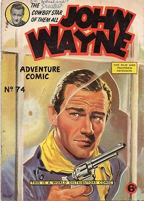John Wayne Adventure Comic #74, 1957 (WDL)