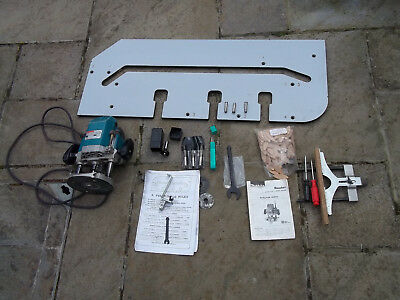 Makita Router model 3612 BR plus Kitchen Worktop Jig in used condition