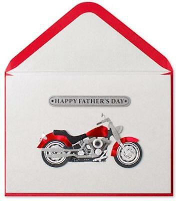 """""""Wishing a Cool Guy the Best Day Ever"""" PAPYRUS Motorcycle FATHER'S DAY CARD $8"""