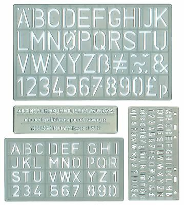 alphabet stencils letters numbers upper lower case characters case 4 sizes