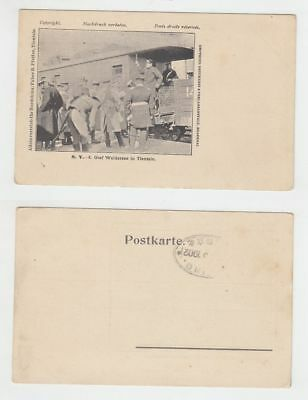 China Old Postcard Mission Count Waldersee In Tientsin 1902 !!