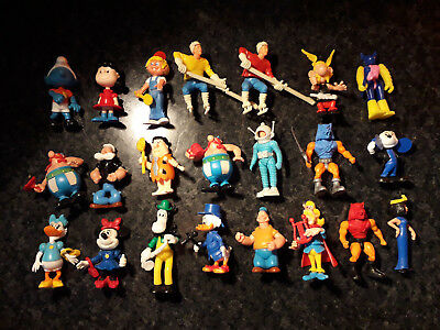LOT KINDER montable Astérix Popeye Mickey robot astronaute etc ..