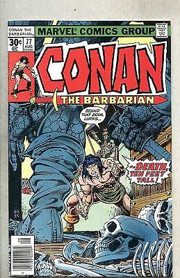Conan The Barbarian #77-1977 fn+ John Buscema