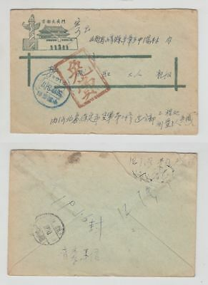 China Old Cover Paoting Postage Paid 1956 !!