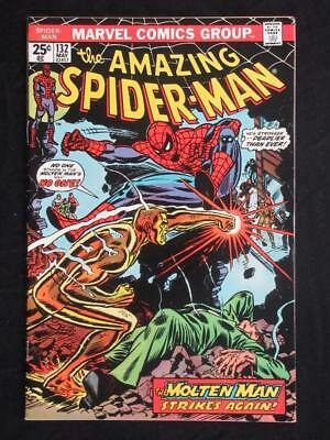 Amazing Spider-Man #132 MARVEL 1974 - HIGH GRADE - Molten Man app - Stan Lee!!!