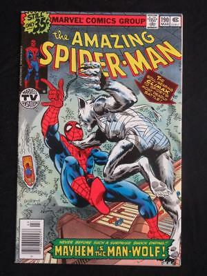 Amazing Spider-Man #190 MARVEL 1979 - HIGH GRADE - Man-Wolf app - Stan Lee comic