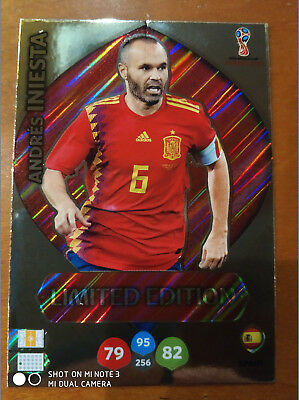 """Limited Edition """"andrés Iniesta"""". Adrenalyn Xl World Cup Russia 2017/18 (Leer)"""