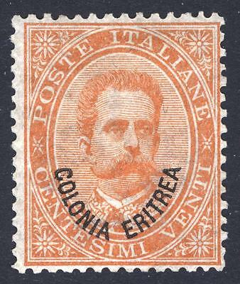 Eritrea 1892 20c Orange Scott 5, SG 5, LMM/MLH Cat $375