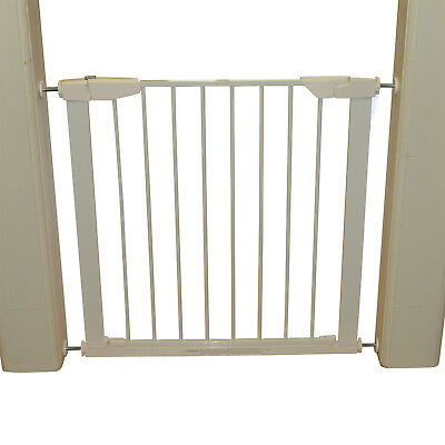 Retractable Pet Safety Gate Portable Adjustable Lightweight - White Steel
