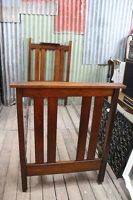 An Arts & Crafts Antique Single Blackwood Timber Bed