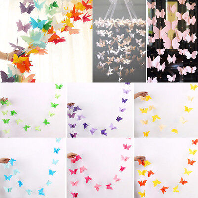 Butterfly Hanging Paper Garlands Wedding Party Birthday Baby Shower Table Decor