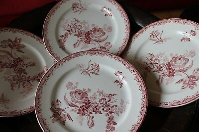 Sarreguemines France  FONTANGES    8  assiettes  plates   23  cm