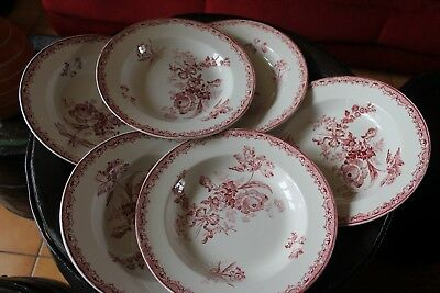 Sarreguemines France  FONTANGES    6  assiettes  creuses   23  cm