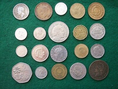 Job Lot Of 20 Foreign/worldwide Old Coins