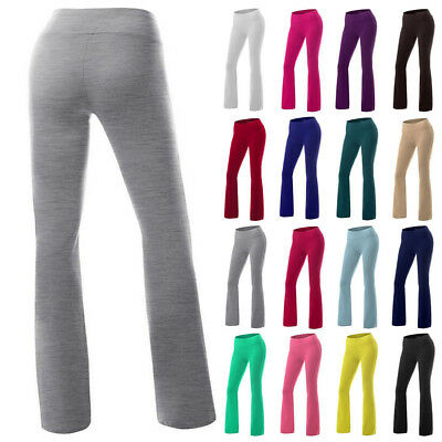 Women's OL Yoga Trousers Casual Pants Stretch Sports High Waist Wide Leg Fitness