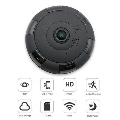 1080P HD 360 Degree Wireless WIFI Mini smart Panoramic IP Camera Home  Security