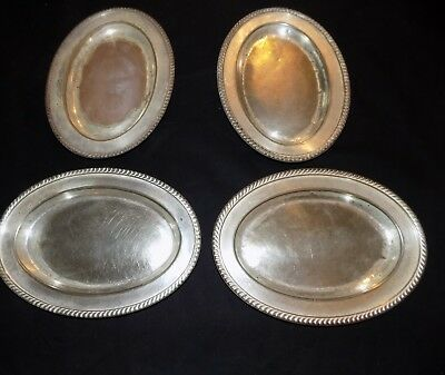 "Vintage R. Wallace Silver Soldered 10"" 4 plates trays Clarendon Hotel Brooklyn+"