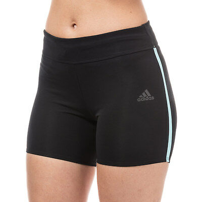 Womens adidas performance Womens Response Short Running Tights in Black - 20-22