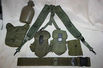 US Military Issue Alice Field Gear Belt Suspender Ammo Pouches Canteen Set Large