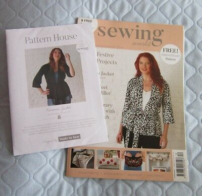 SEWING WORLD magazine - dec 2017 - with patterns - £0.99 | PicClick UK