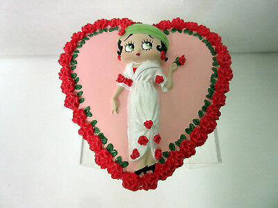 New Betty Boop Roses Heart Shaped Box Very Rare & Retired GB912