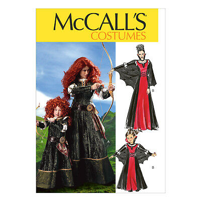 MCCALL\'S 6817 SEWING Pattern Costumes - Brave Merida Gown & Cape ...