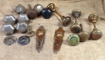 Large Lot Of Antique And Vintage Brass And Steel Door Knob