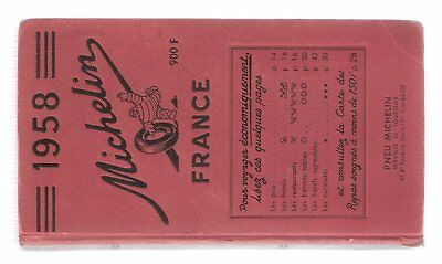 guide michelin rouge france 1958