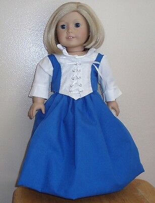 Historical Empire 1818 style long dress fit a//g 18 inch dolls