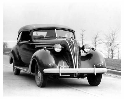 1937 Hudson Eight Convertible Brougham Factory Photo uc4614