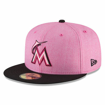 new arrival d38c4 0e523 Miami Marlins New Era 2018 Mother s Day On-Field 59FIFTY Fitted Hat - Pink