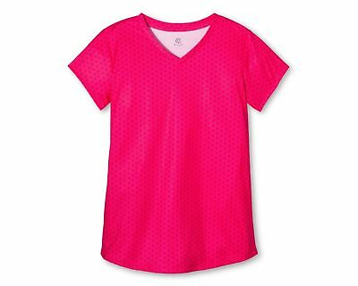 New  Girls' Active T-Shirt Top Bright Coral Champion UV Protection xs s m l xl