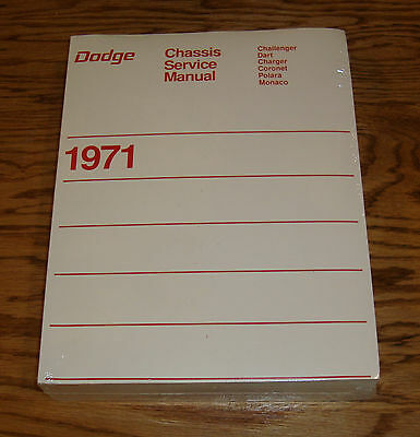 1971 Dodge Chassis Service Shop Manual 71 Challenger Charger Dart Coronet