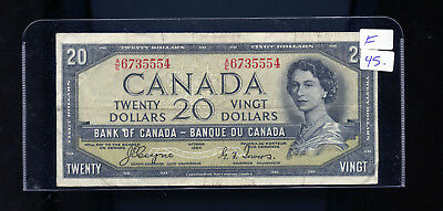 1954 Bank of Canada $20 Devil's Face Coyne Towers F or better BL4095