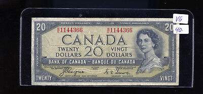 1954 Bank of Canada $20 Devil's Face Coyne Towers VG or better BL4099