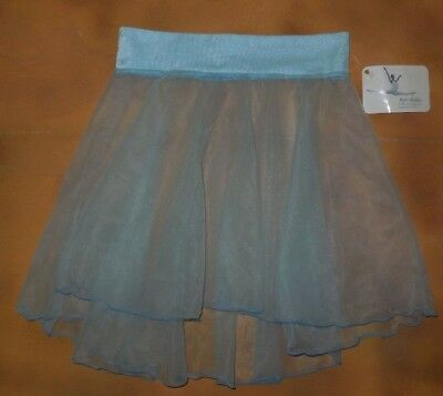 NWT Major Motion Ballet Dance Sheer Chiffon Skirt Lt Blue Child Size #1000